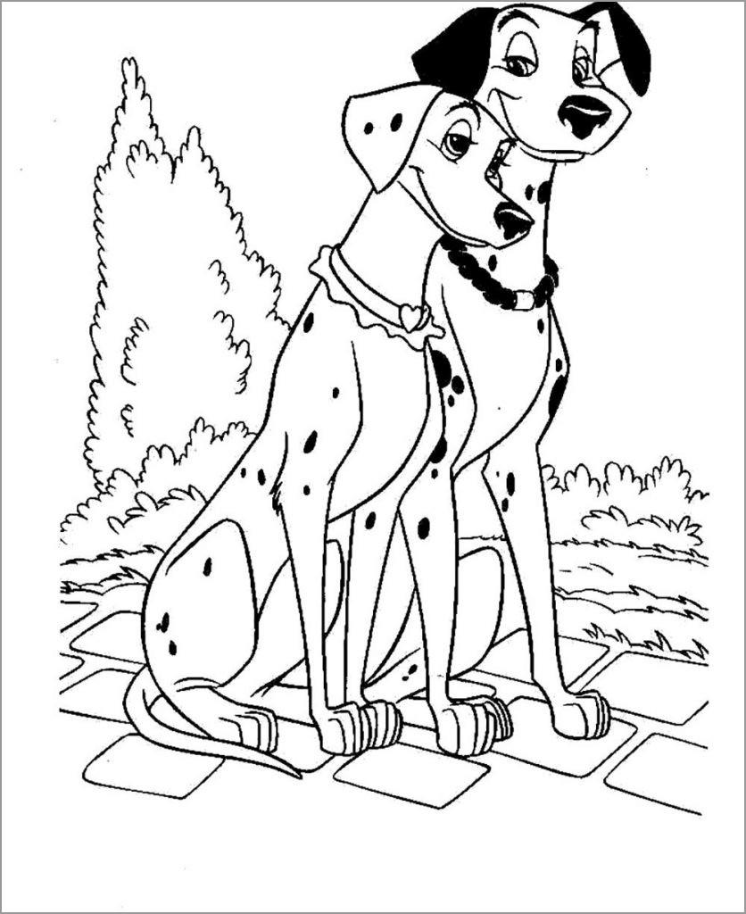 101 Dalmatians Free Coloring Pages