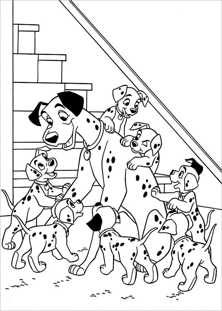 101 Dalmatians Coloring Pages Coloringbay