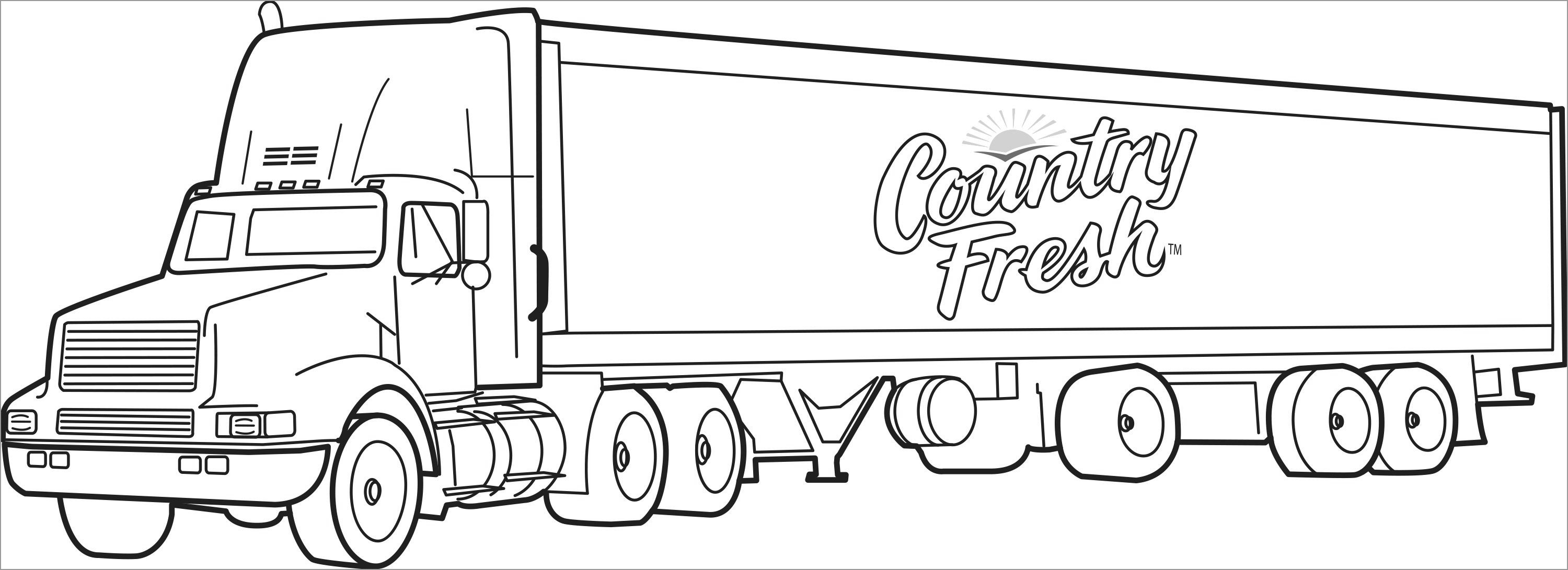 18 Wheeler Coloring Pages for Kids