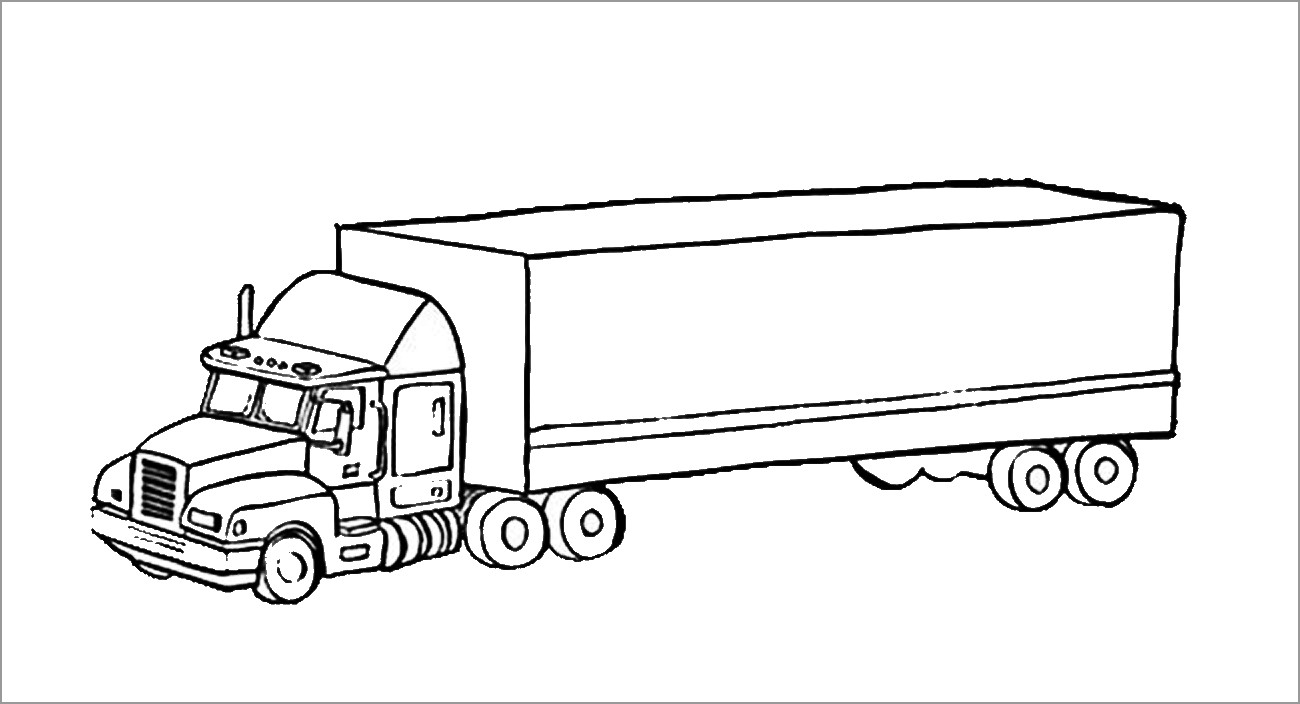 18 Wheeler Truck Coloring Pages