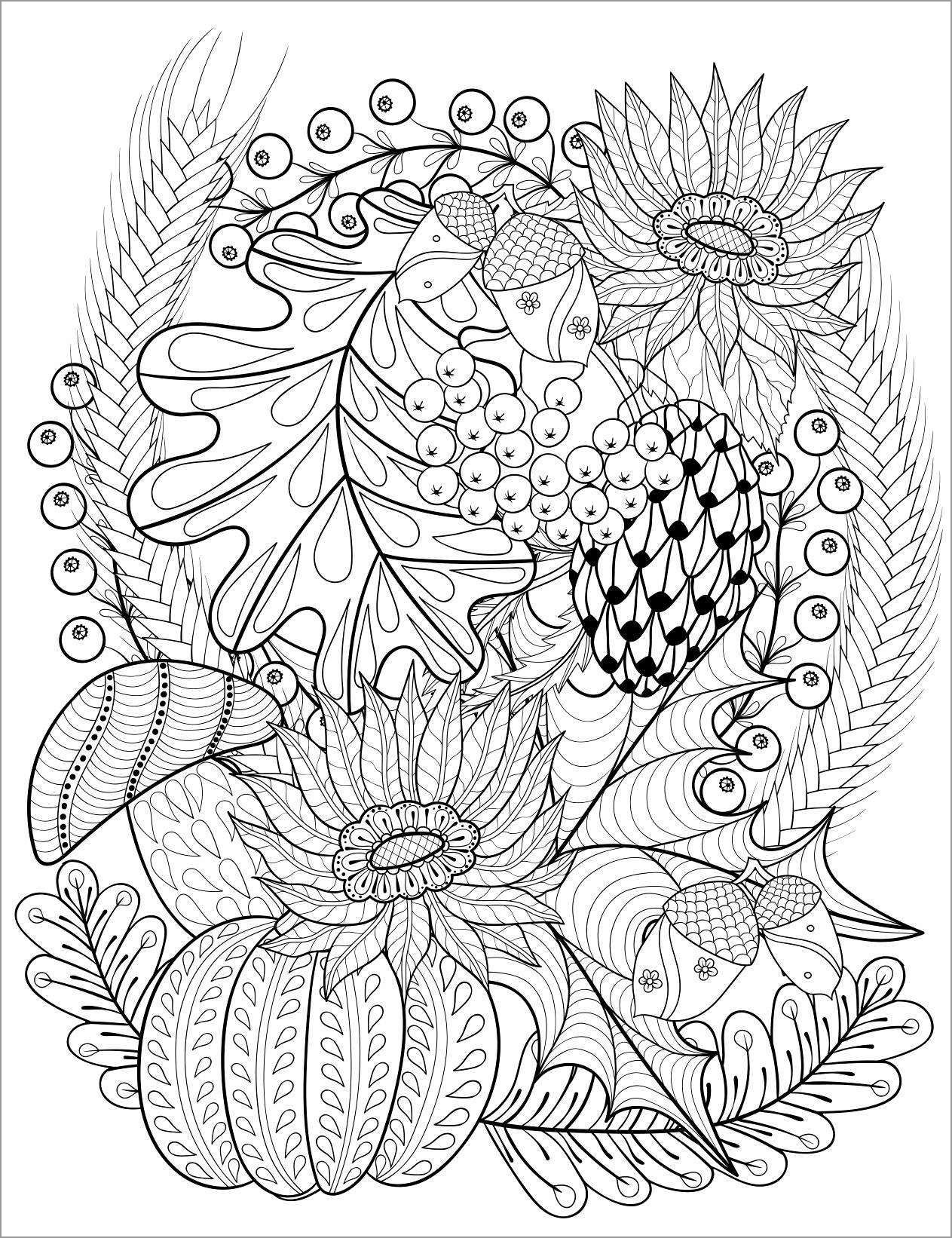 Abstract Autumn Coloring Pages