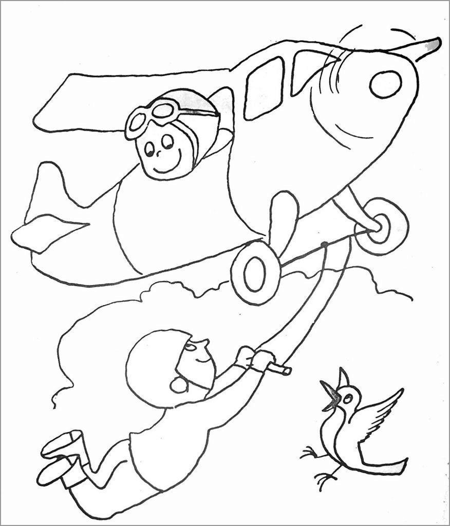 Acrobat Plane Coloring Pages