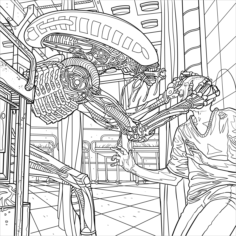 Alien Movie Coloring Page
