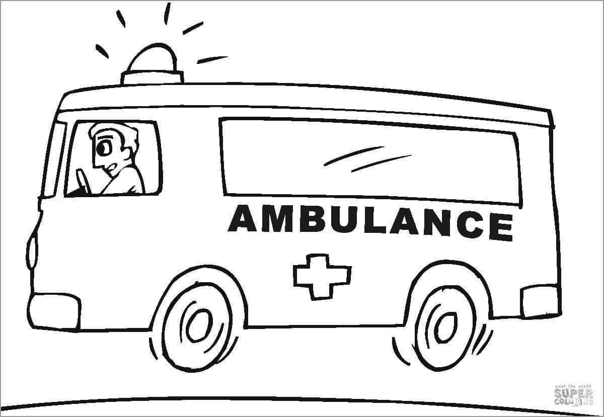 Ambulance Coloring Pages - ColoringBay