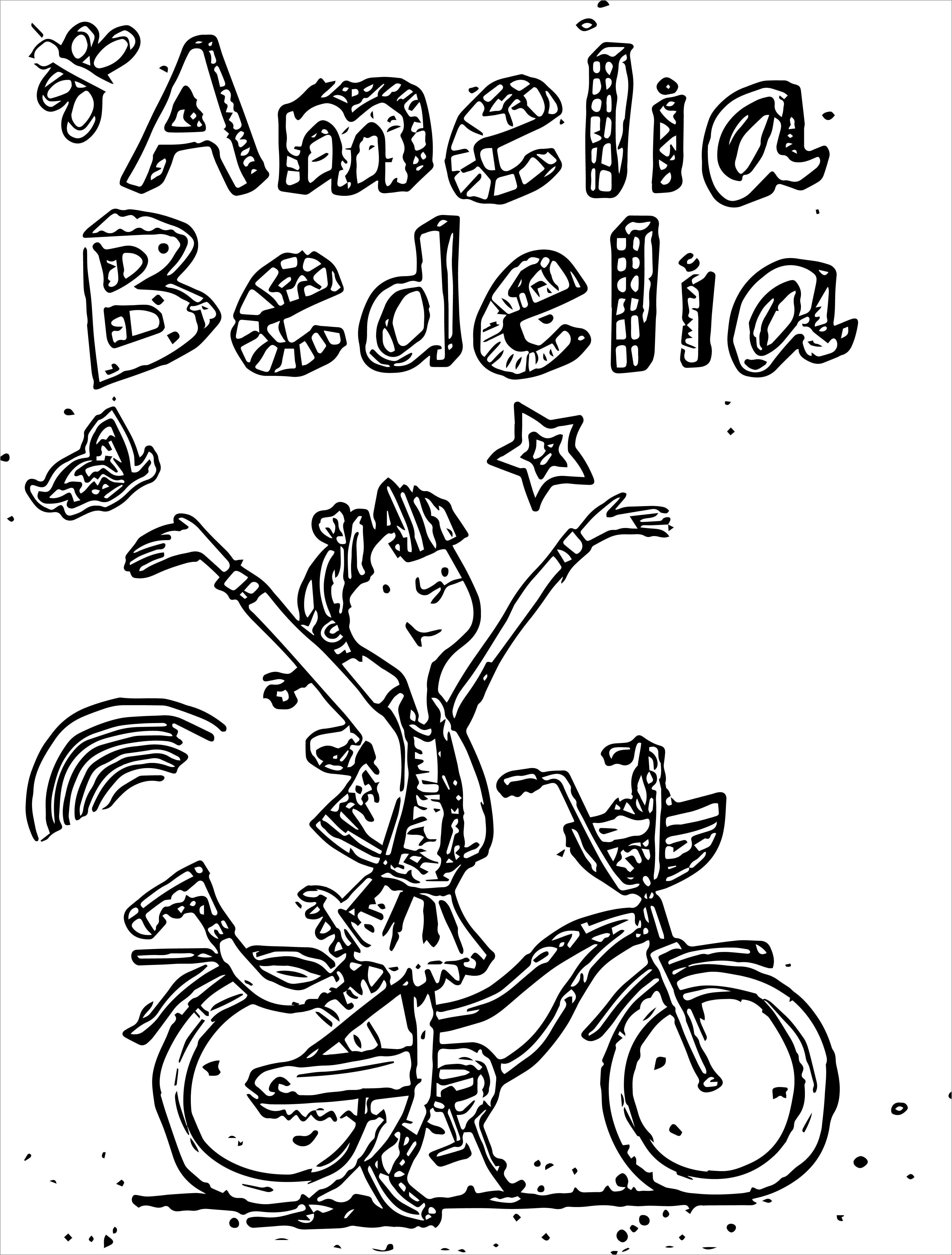 Amelia Bedelia Bicycle Coloring Page