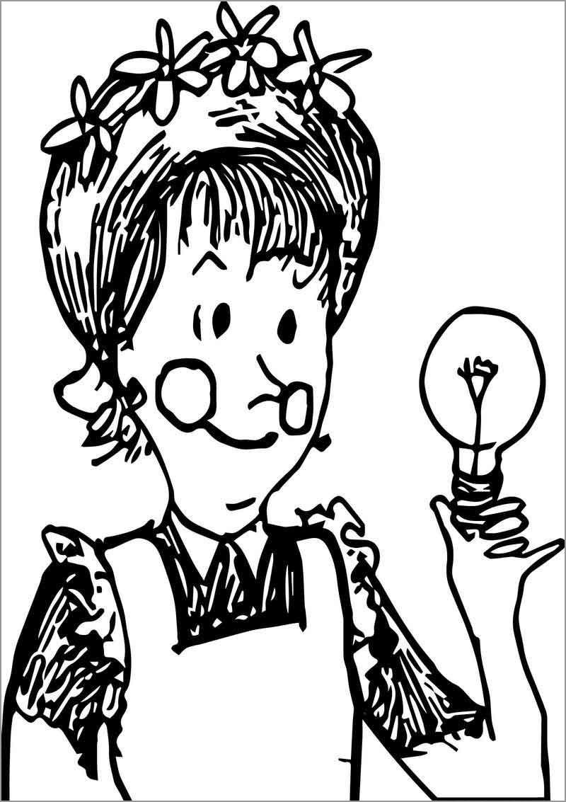 Amelia Bedelia Bulb Coloring Page