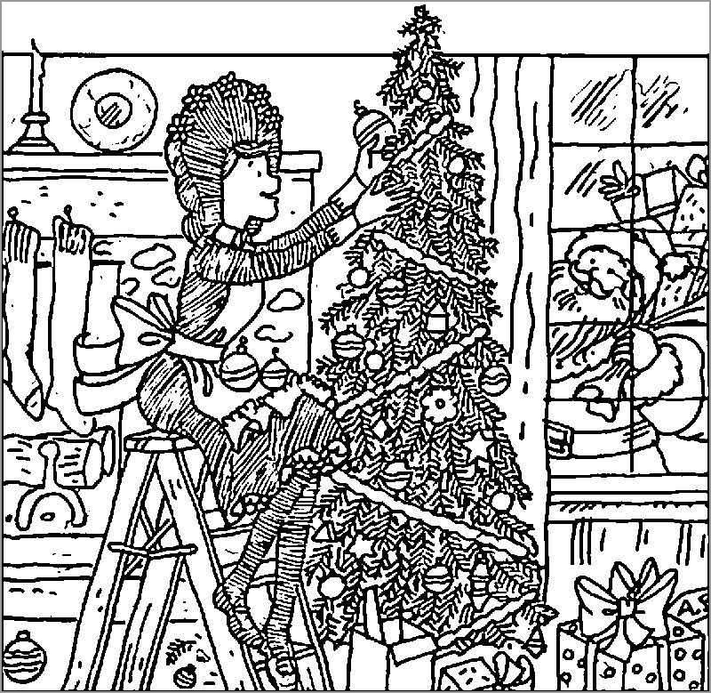 Amelia Bedelia Christmas Coloring Page