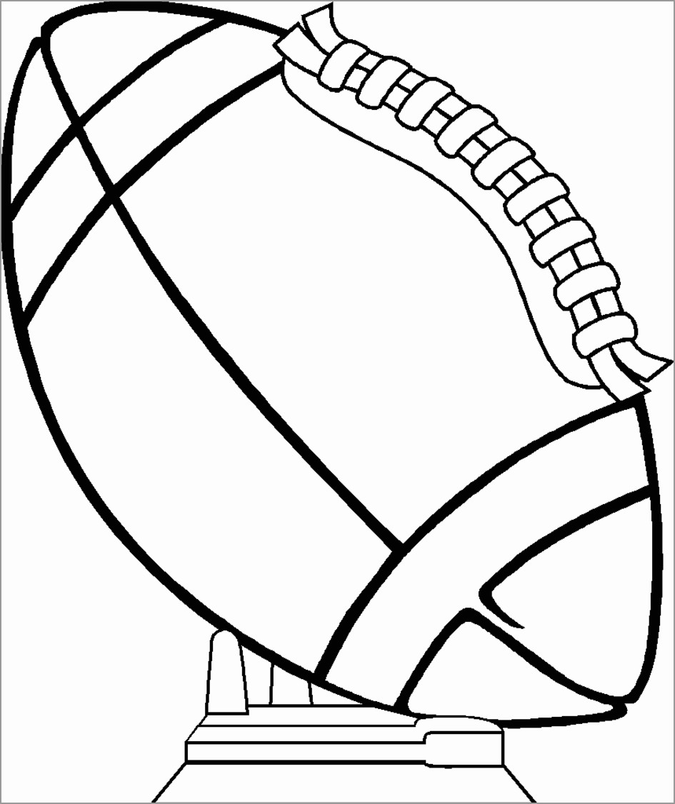 American Football Ball Coloring Page