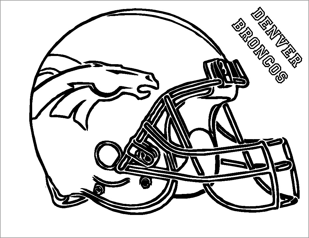 American Football Helmets Coloring Page