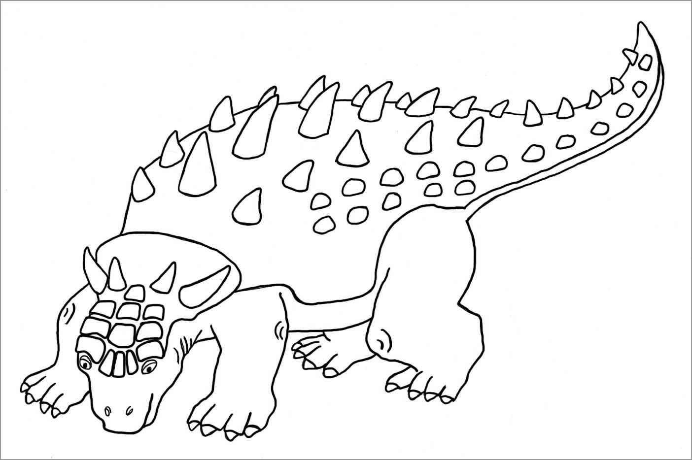 Ankylosaurus Dinosaur Coloring Page