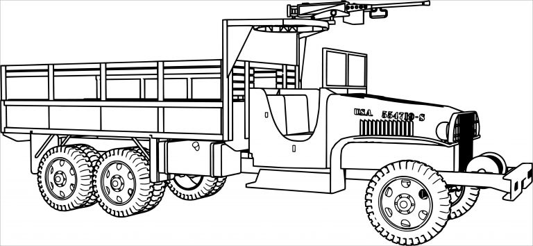 Army Jeep Coloring Pages - ColoringBay
