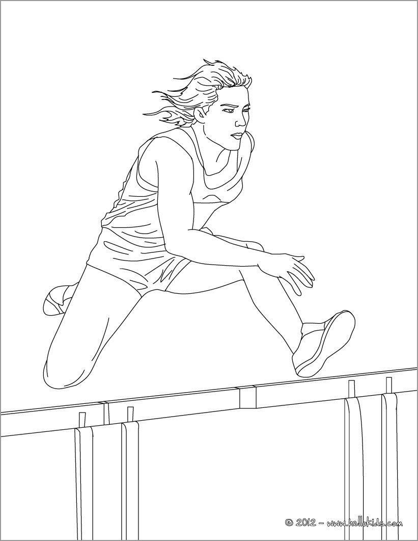 Athletics Coloring Page Hurdles