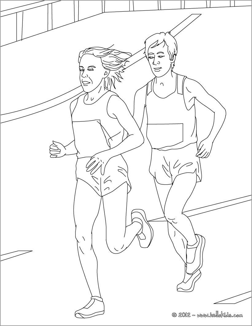 Athletics Coloring Page Marathon