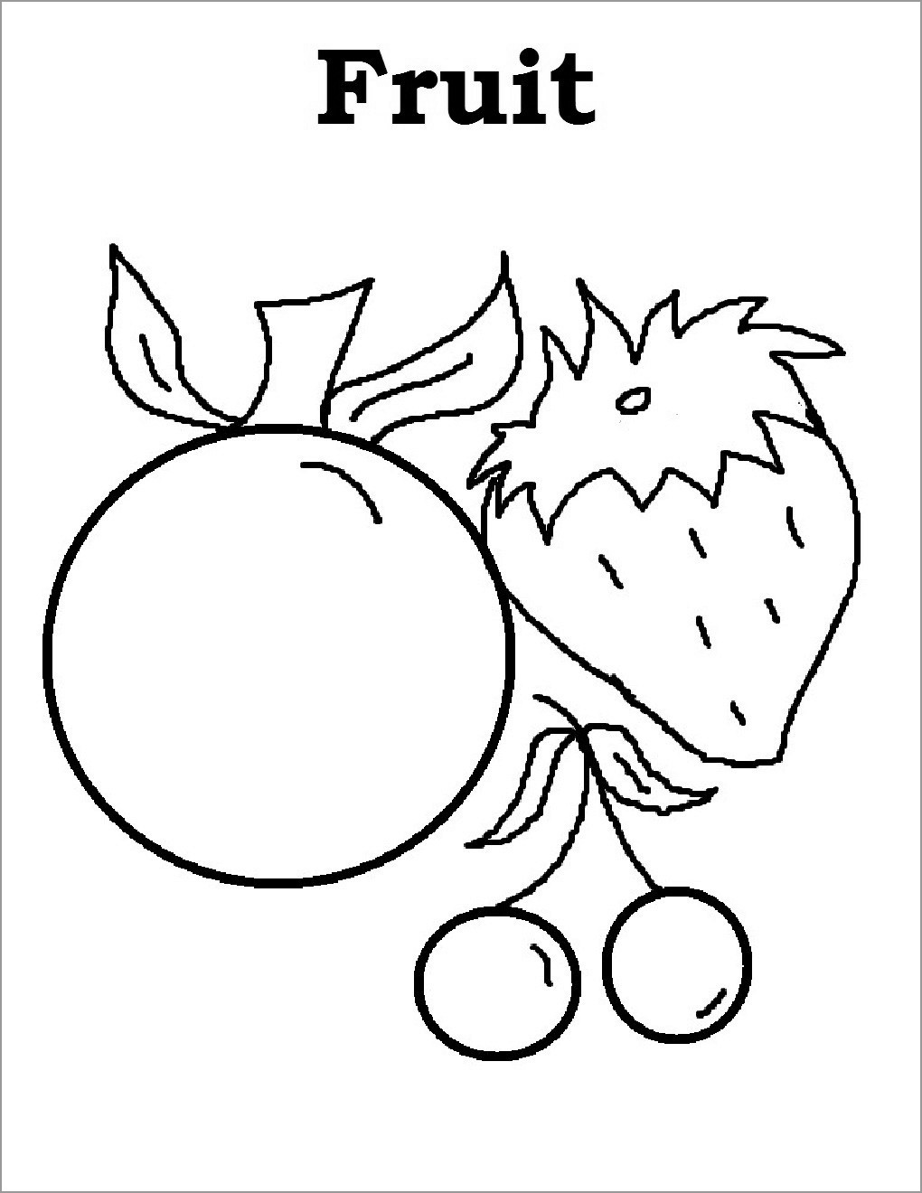 Autumn Fruits Coloring Pages