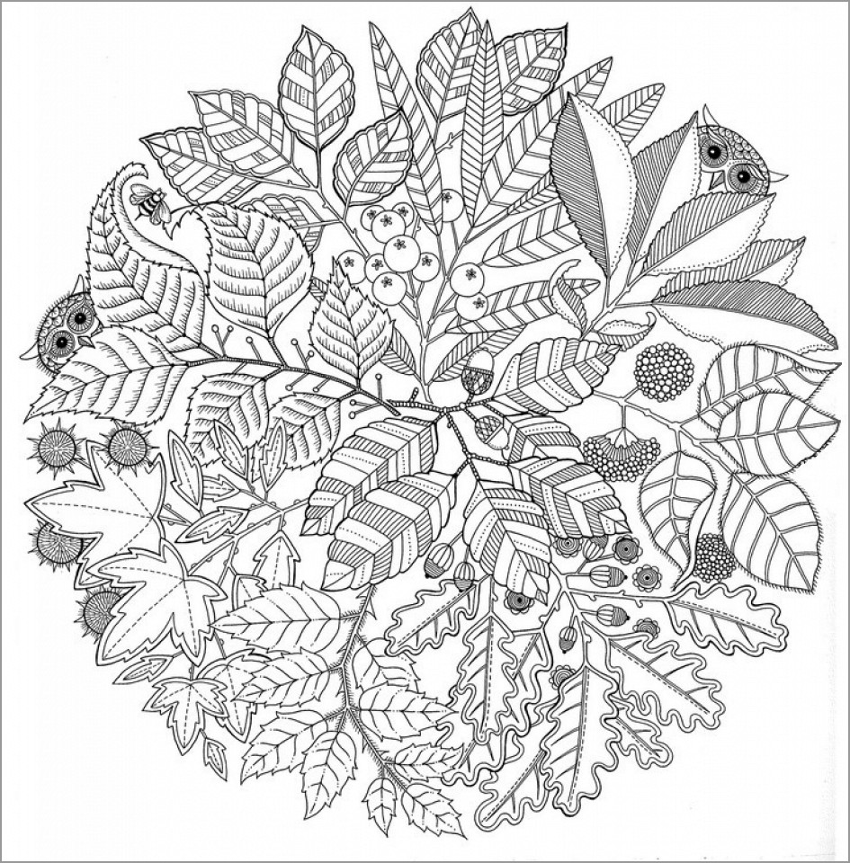 Autumn Mandala Coloring Page