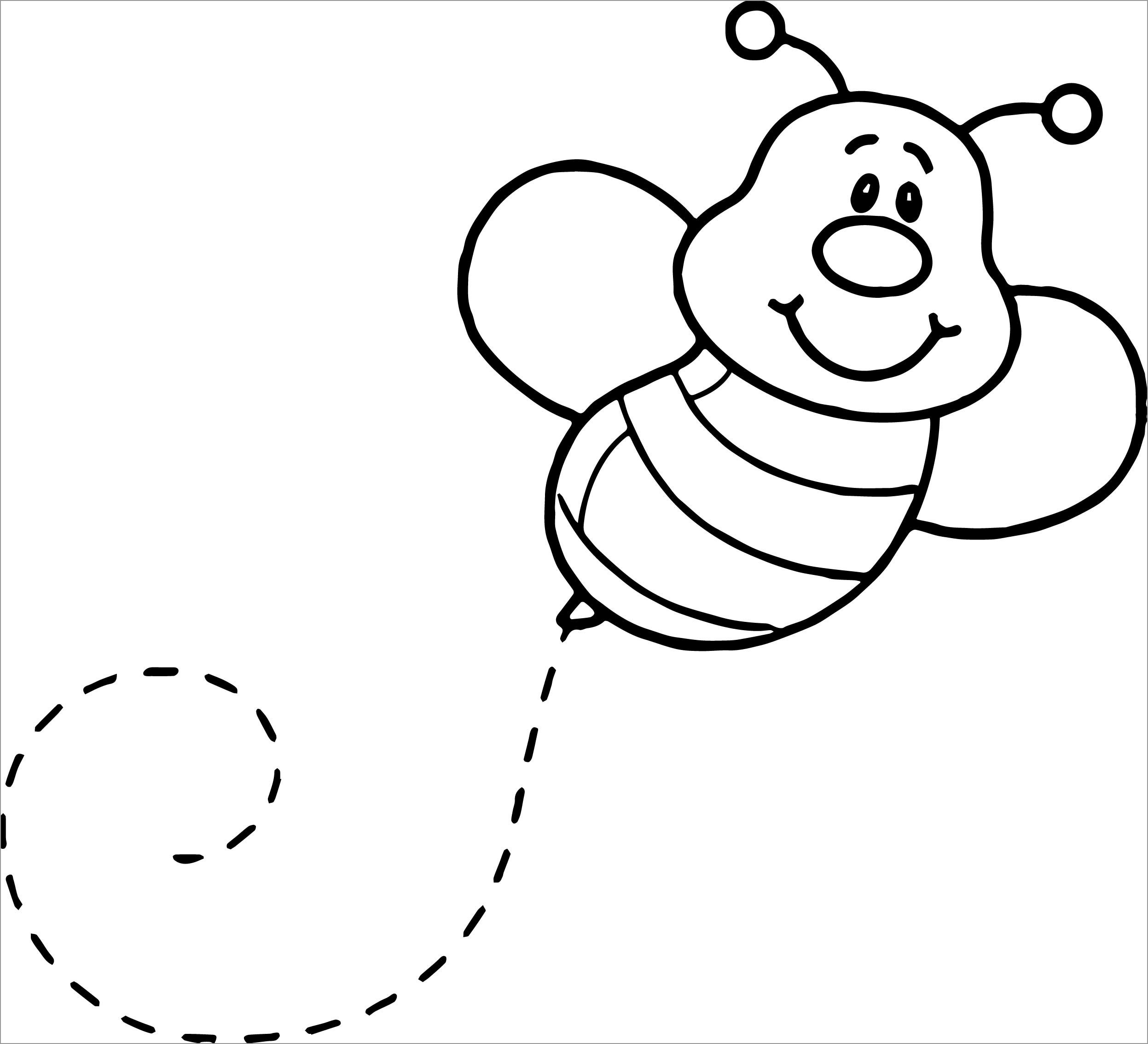 Baby Bee Coloring Page for Kids