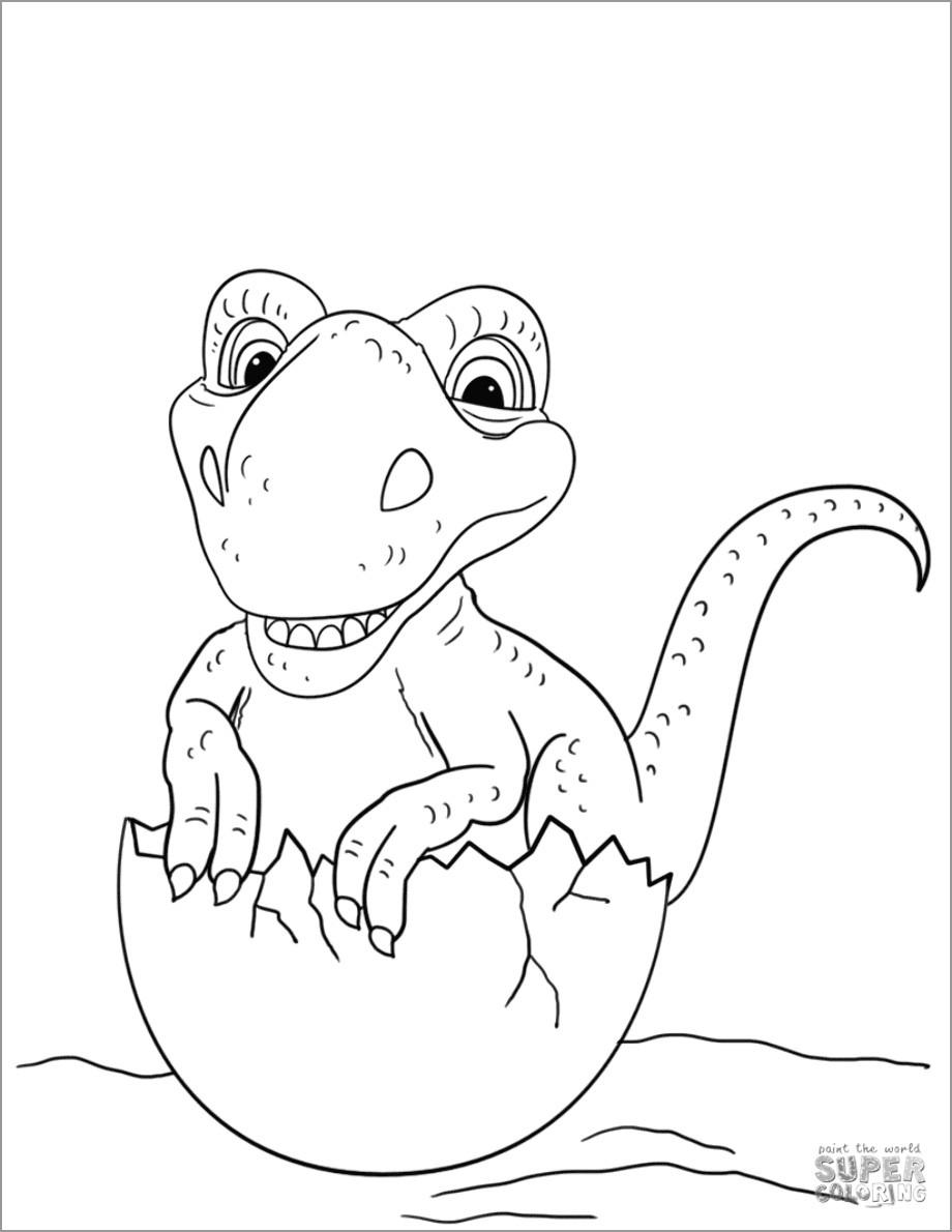 Baby Giganotosaurus Dinosaurs Coloring Page
