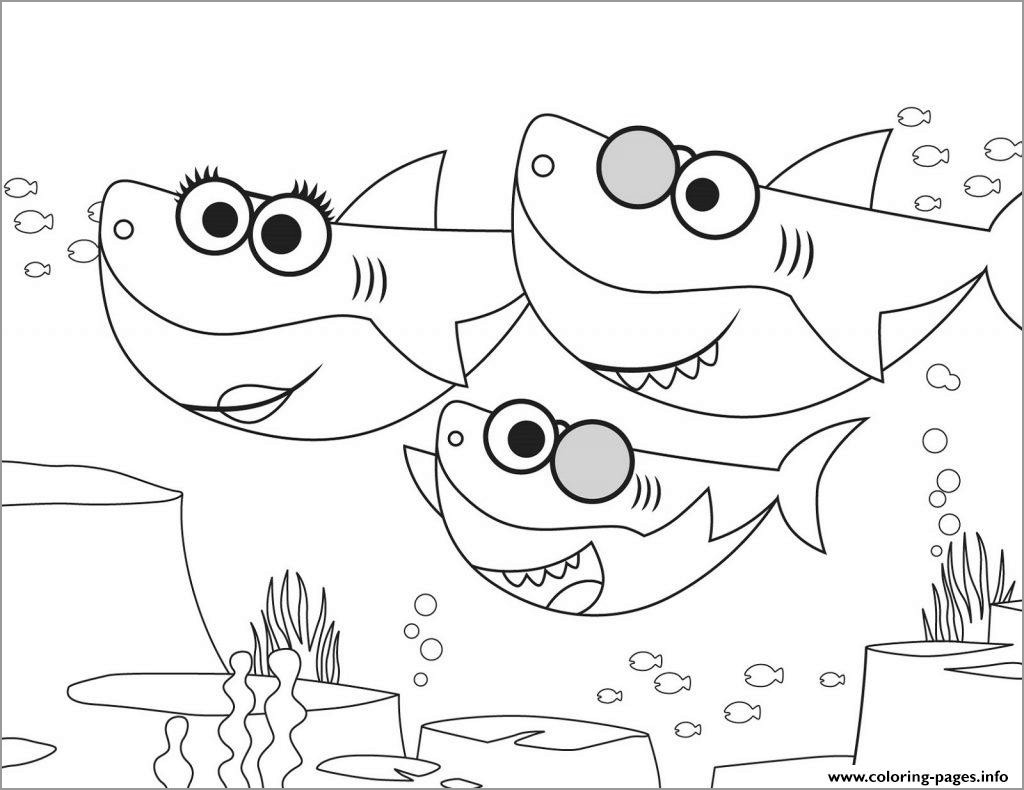 Baby Shark Coloring Page for Kids