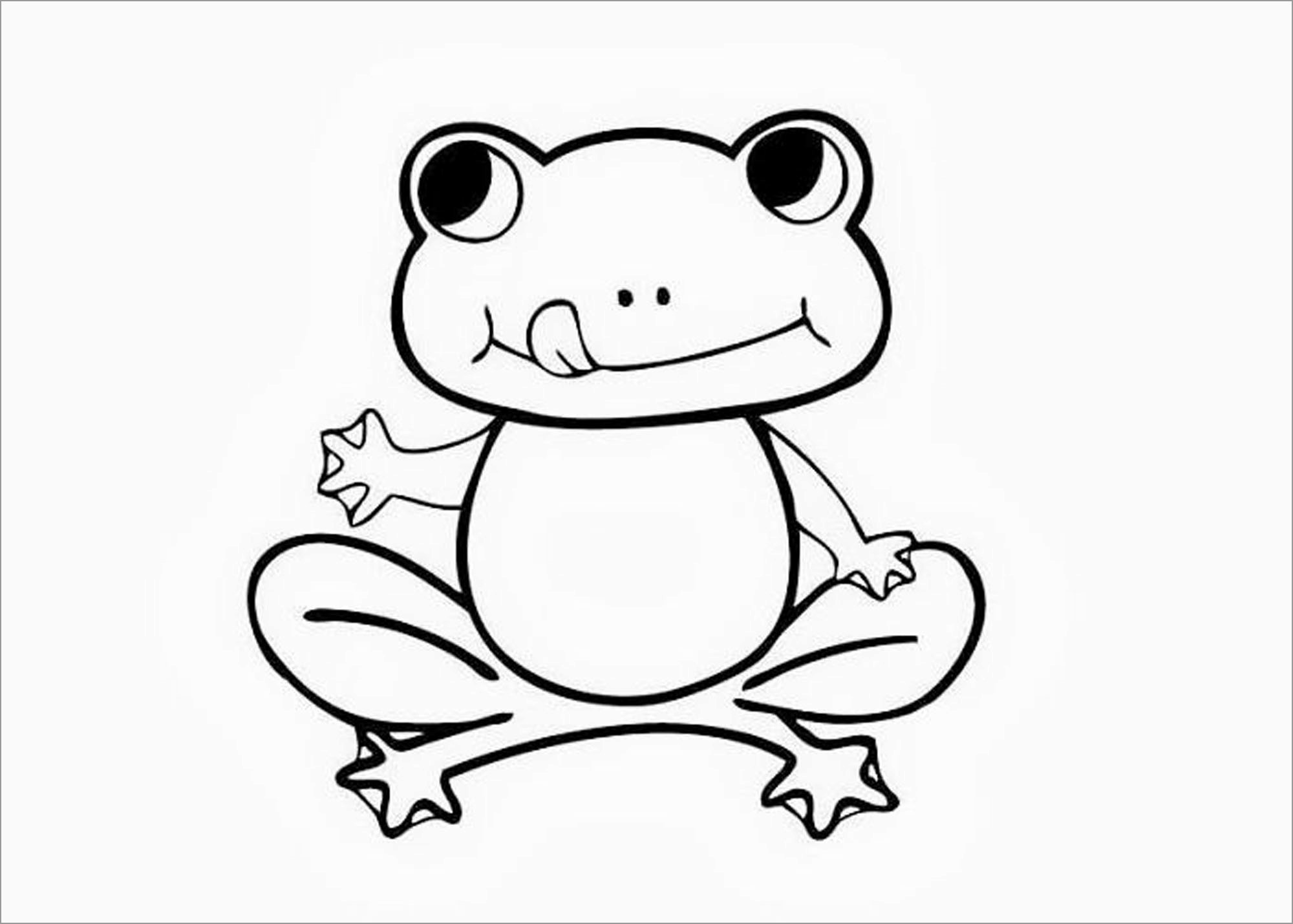 Baby toad Coloring Page