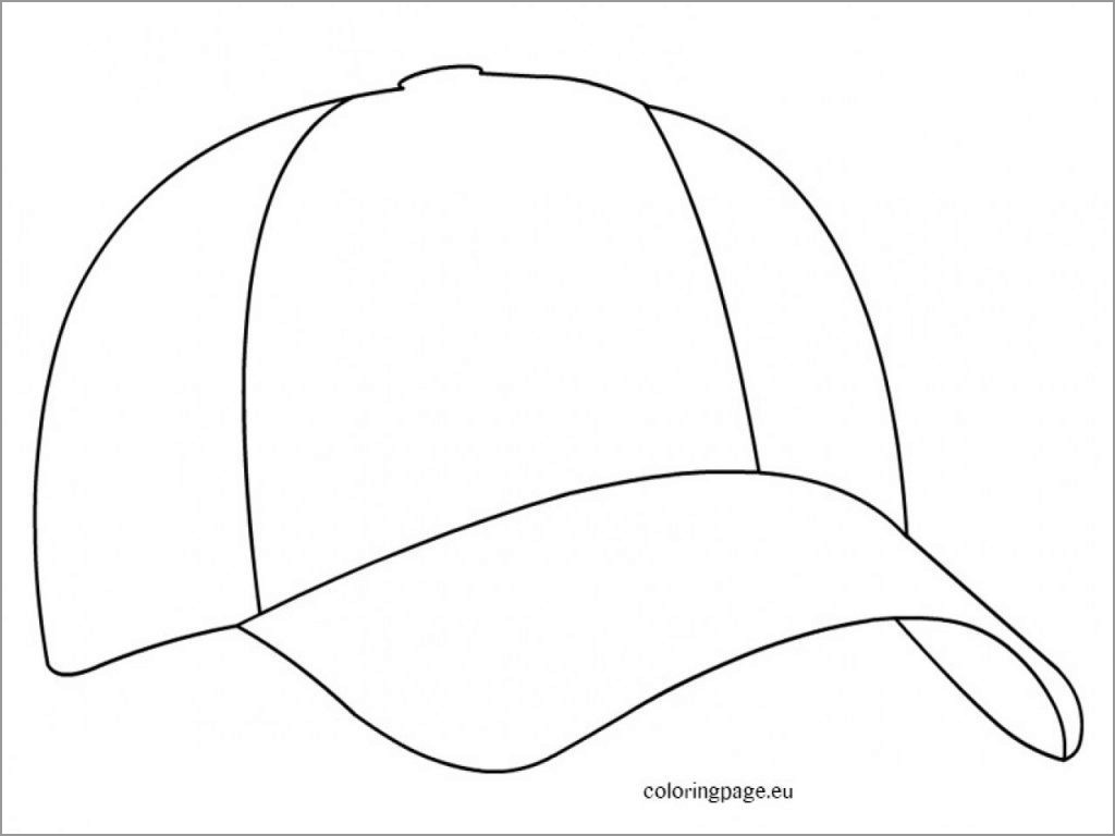 Baseball Cap Coloring Page for Kids