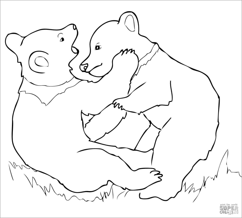 Bear Cub Coloring Page