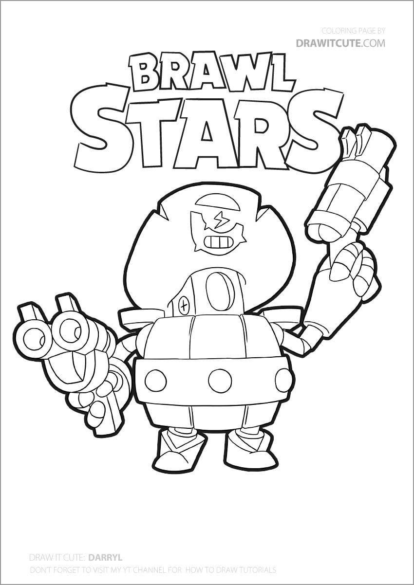 Brawl Stars Coloring Page Kleurplaat Max