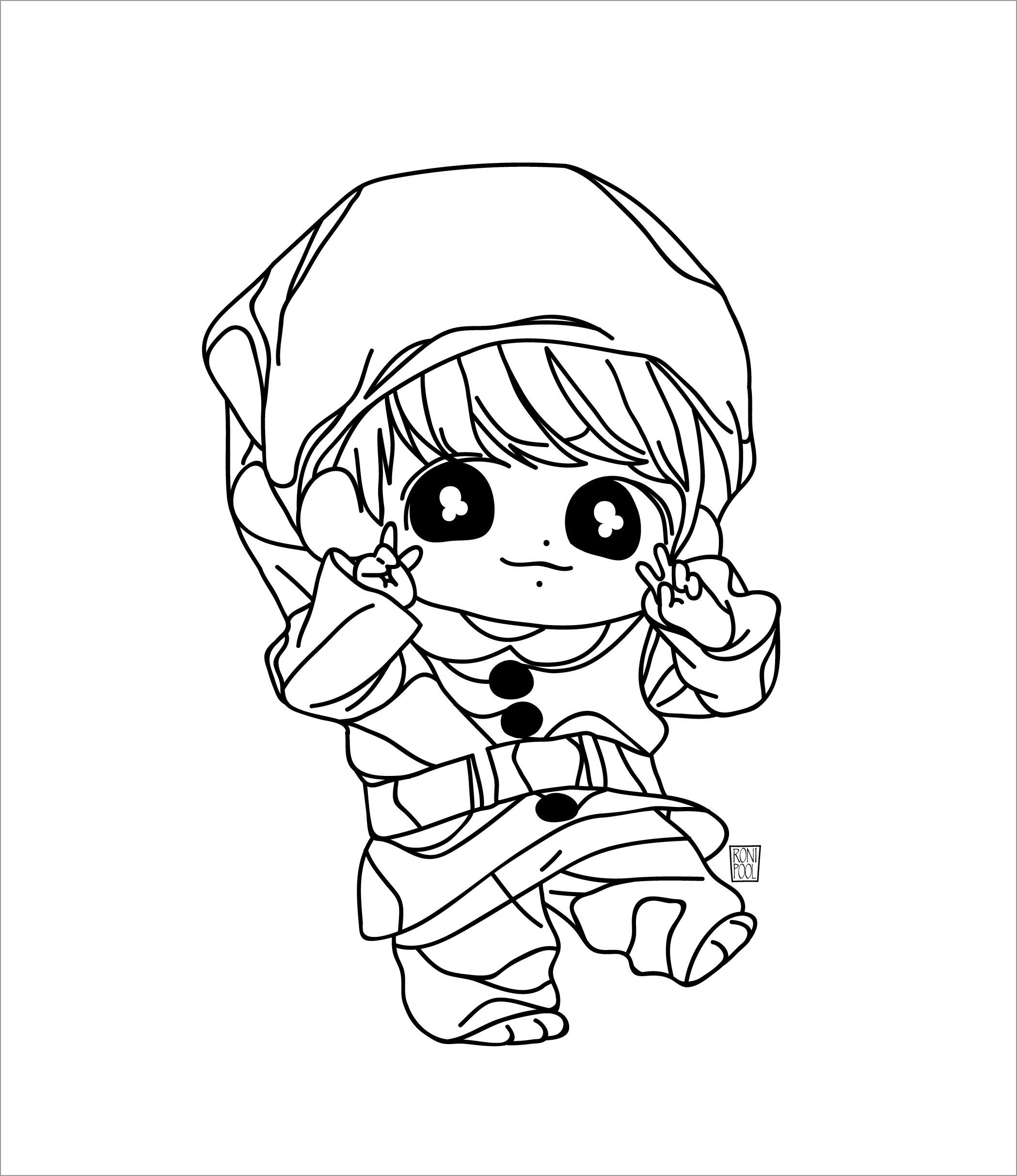 Bts Fanart Jungkook Chibi Coloring Page