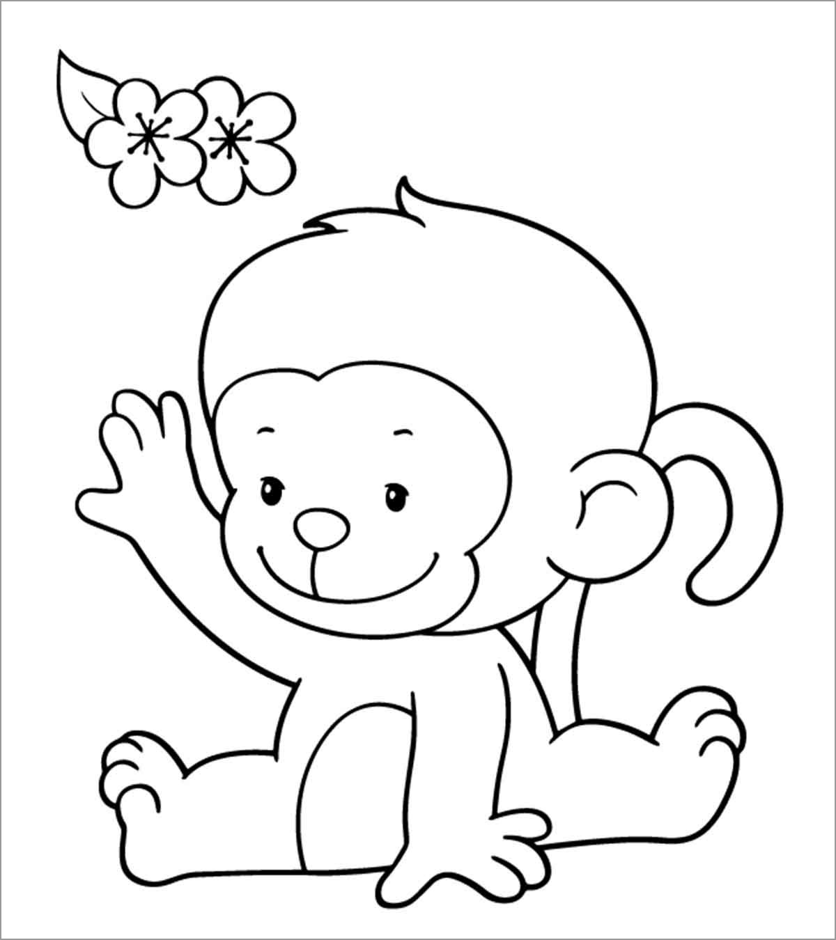 Monkey Coloring Pages - ColoringBay
