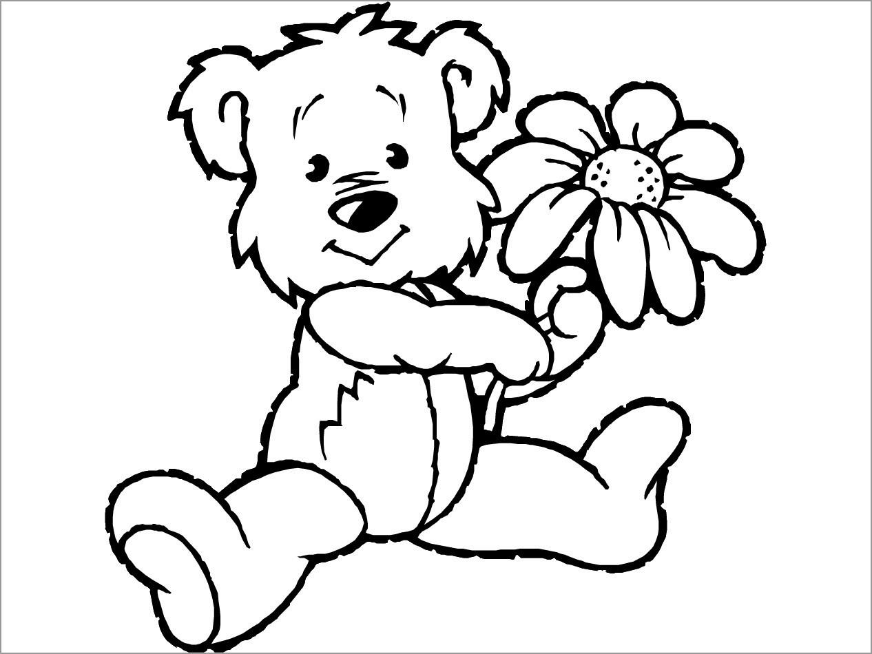 Cartoon Bear Coloring Page