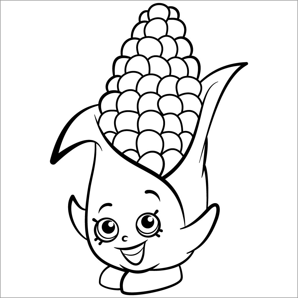 Cartoon Maize Coloring Page