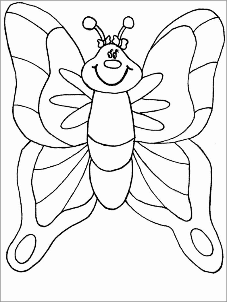 Cartoon Moth Coloring Page