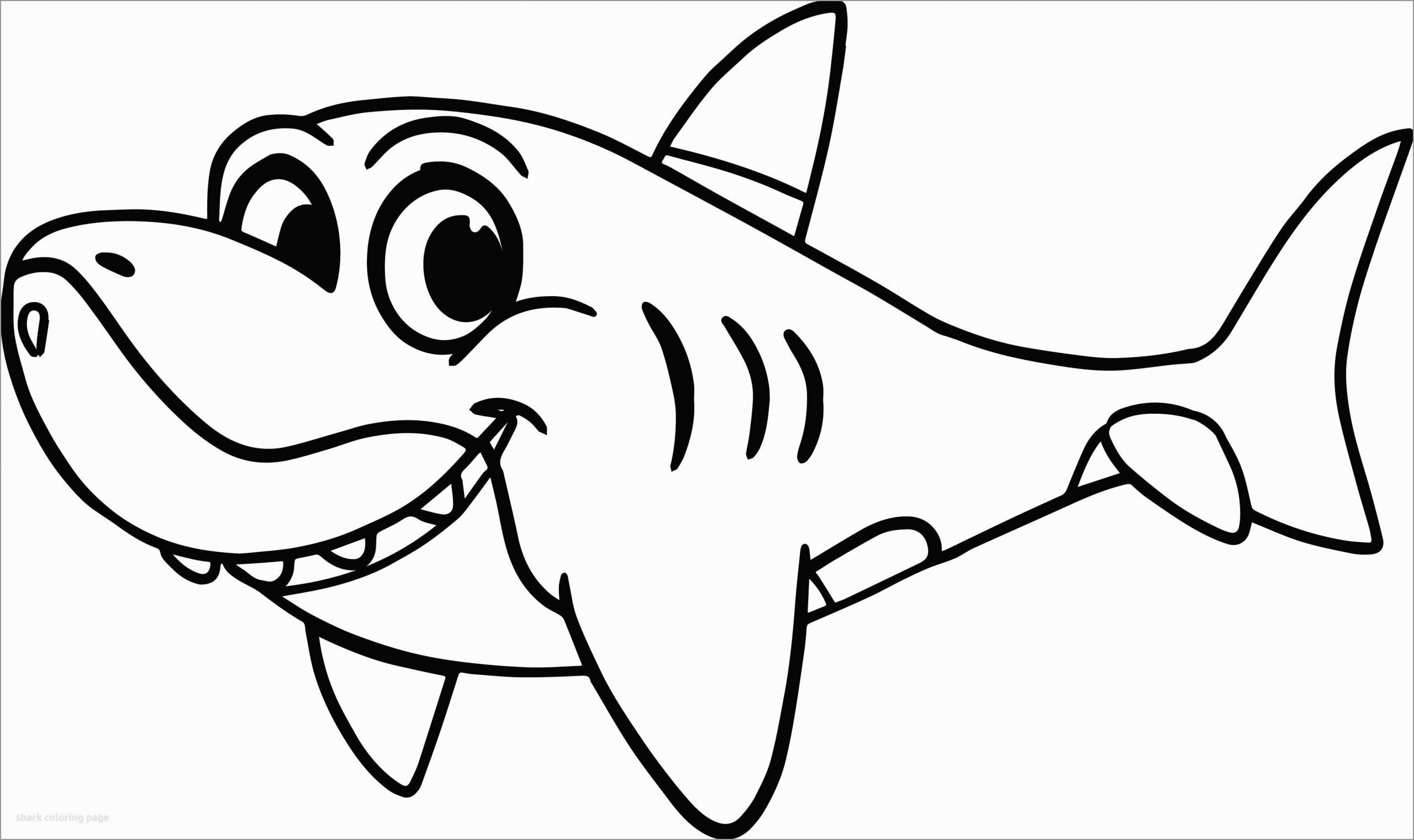Cartoon Shark Coloring Page for Kids