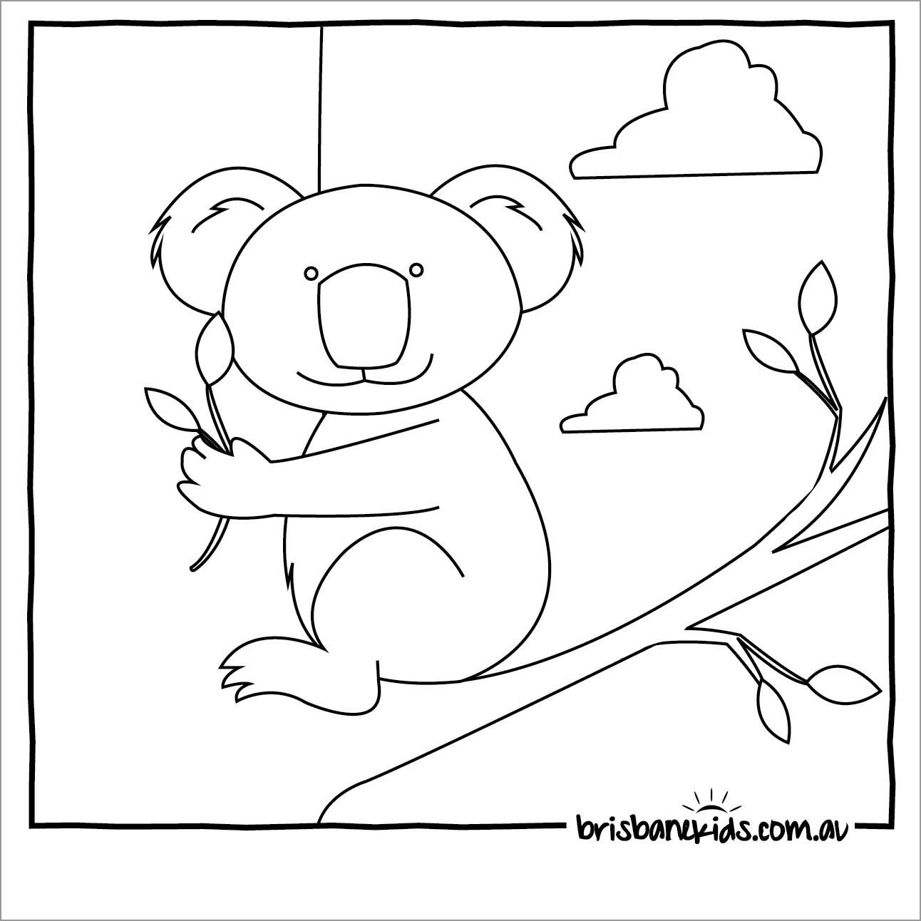 Coloring Page Of A Koala
