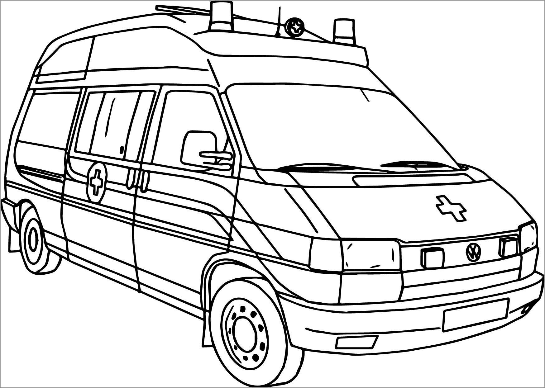 Coloring Page Of Ambulance