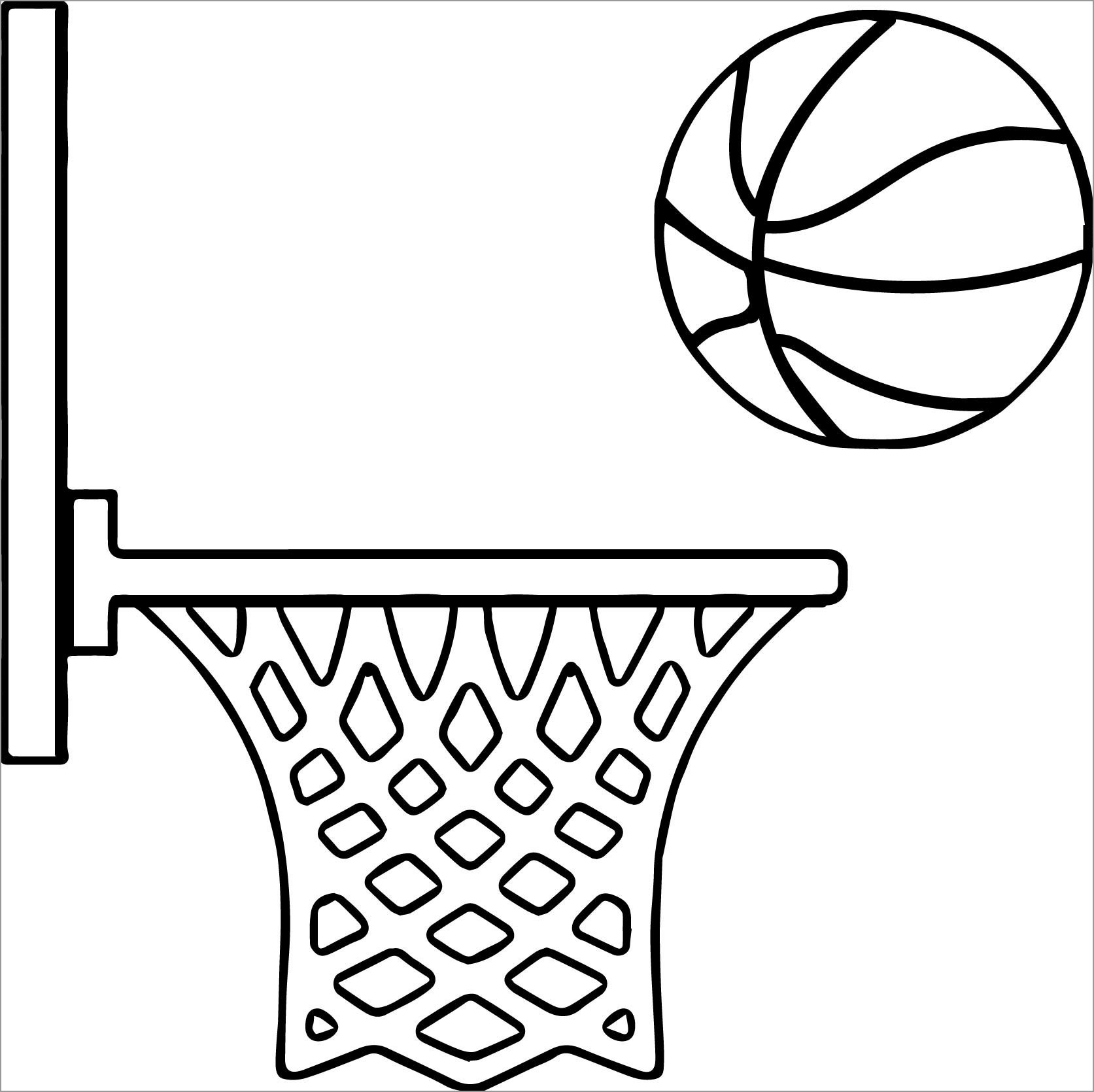 Coloring Pages Basketball for Kids