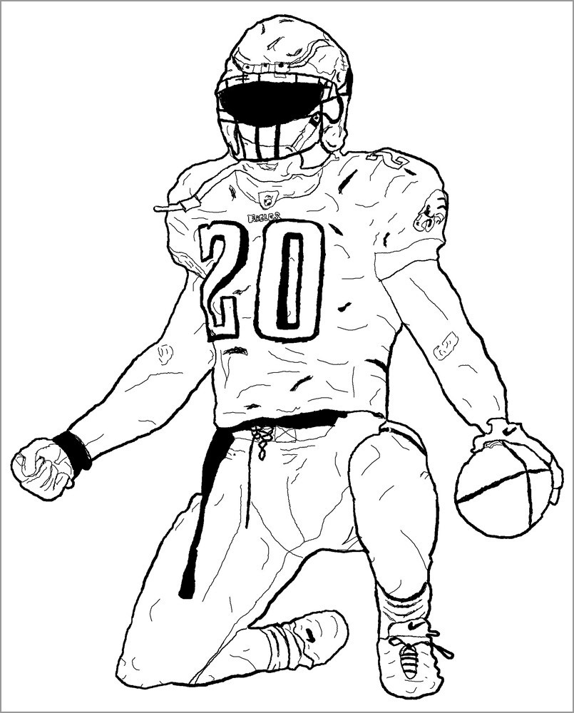 Cool American Football Coloring Page
