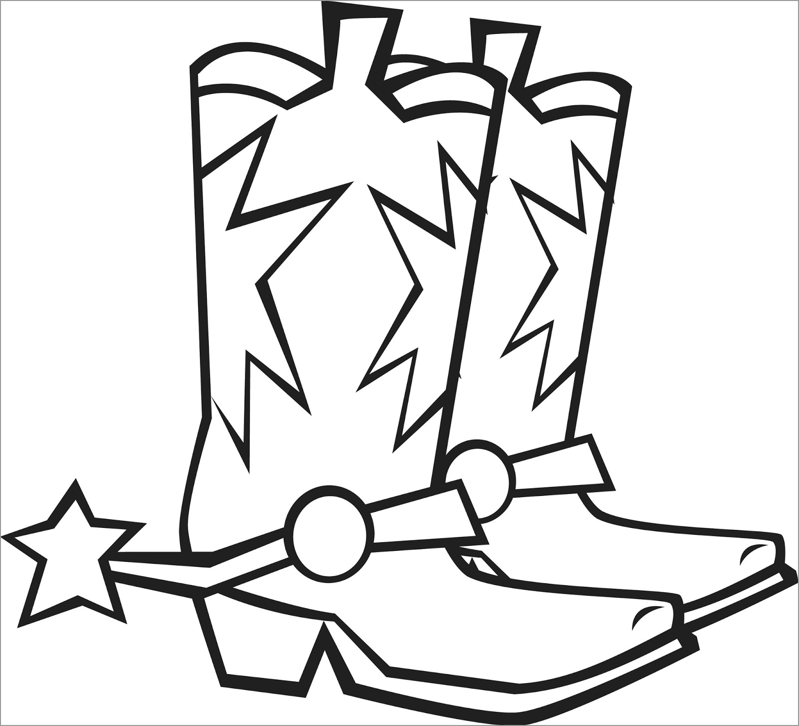 Cowboy Boots Coloring Page