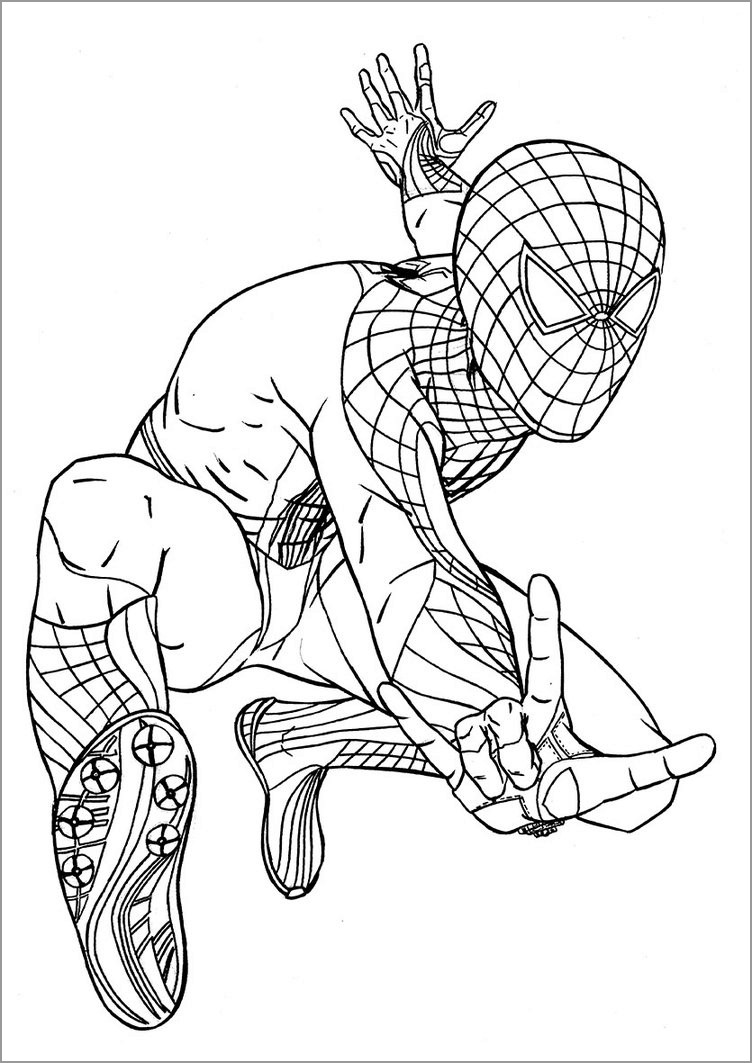 Crammed Amazing Spiderman Coloring Pages