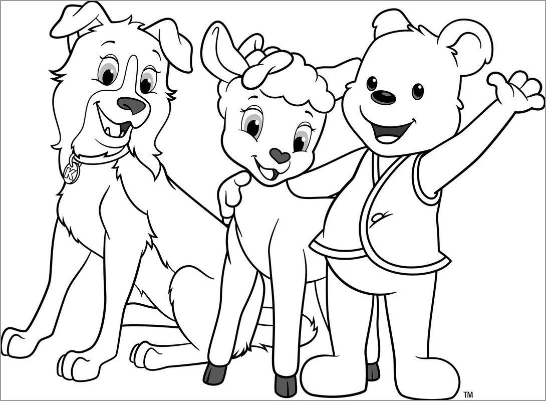 Cubbie Bear Coloring Page