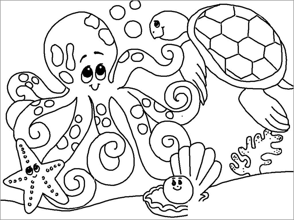 Aquatic Animals Coloring Pages