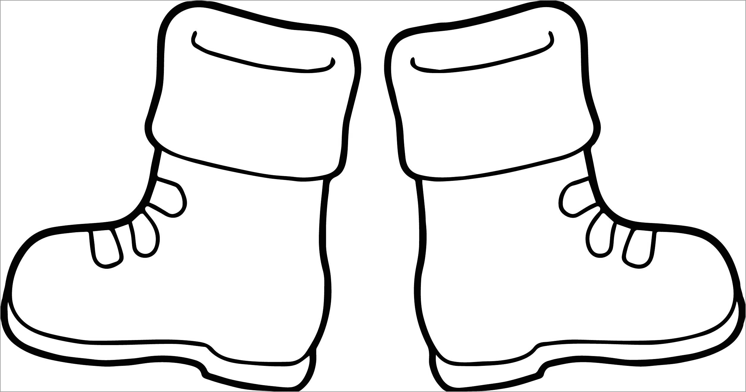 Cute Boots Coloring Page