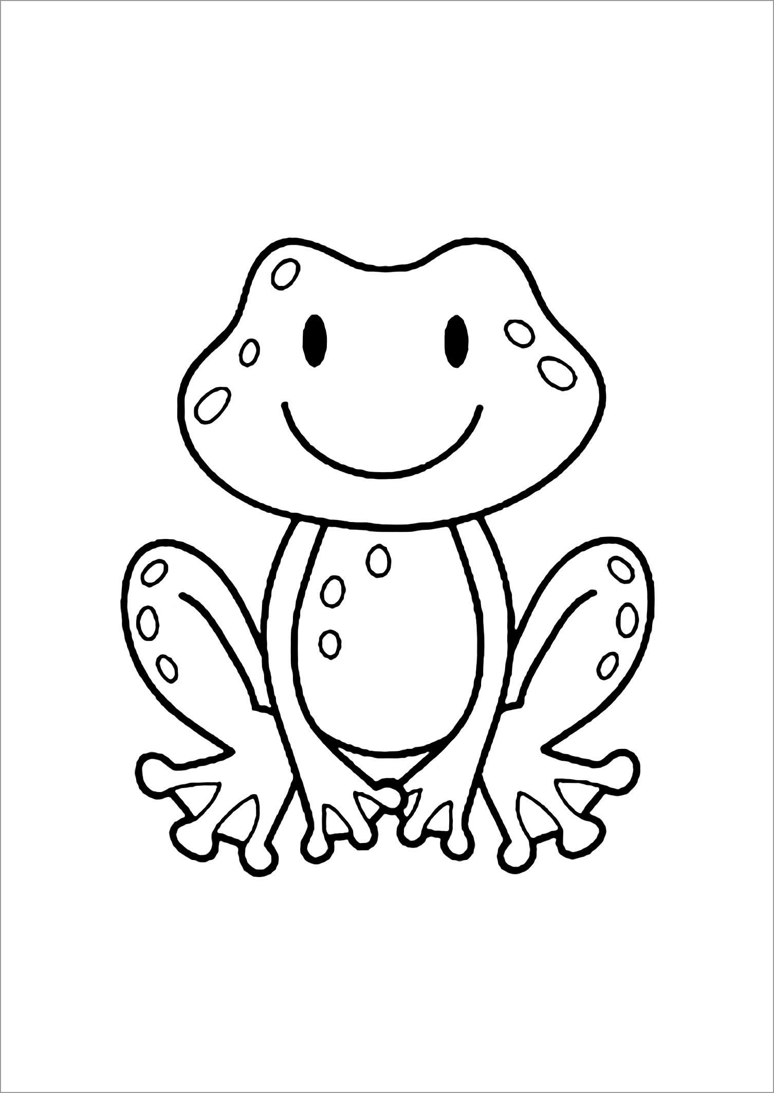 Cute Cartoon toad Coloring Page