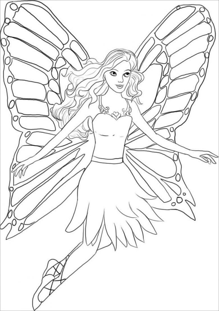 Cute Fairy Coloring Pages Coloringbay