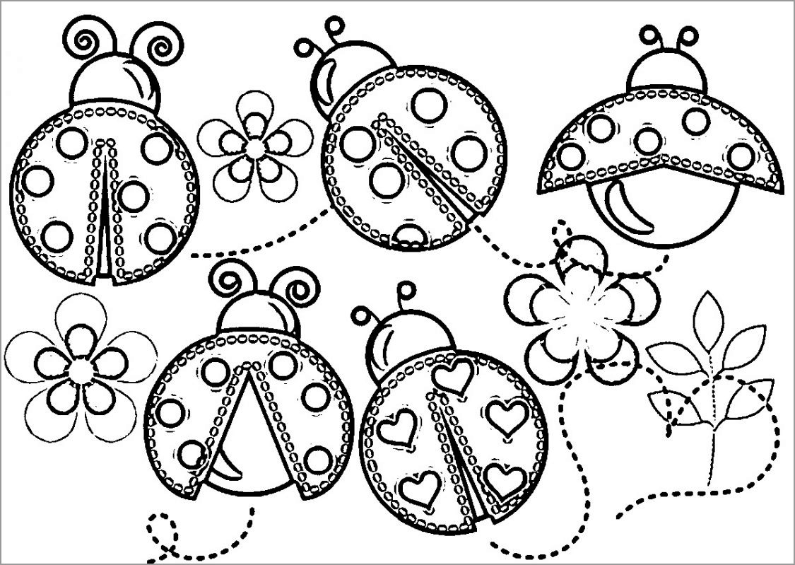 Cute Ladybug Coloring Page
