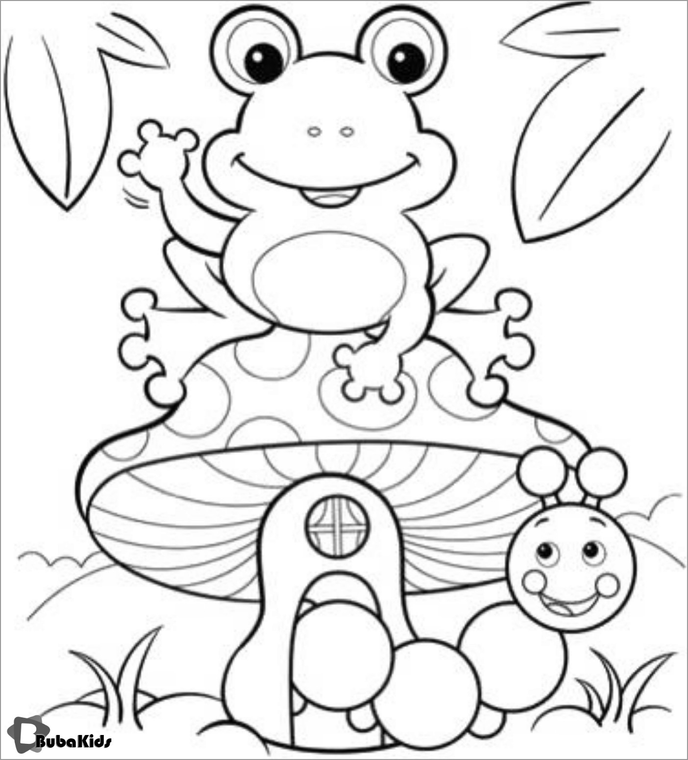 Cute toad Coloring Page