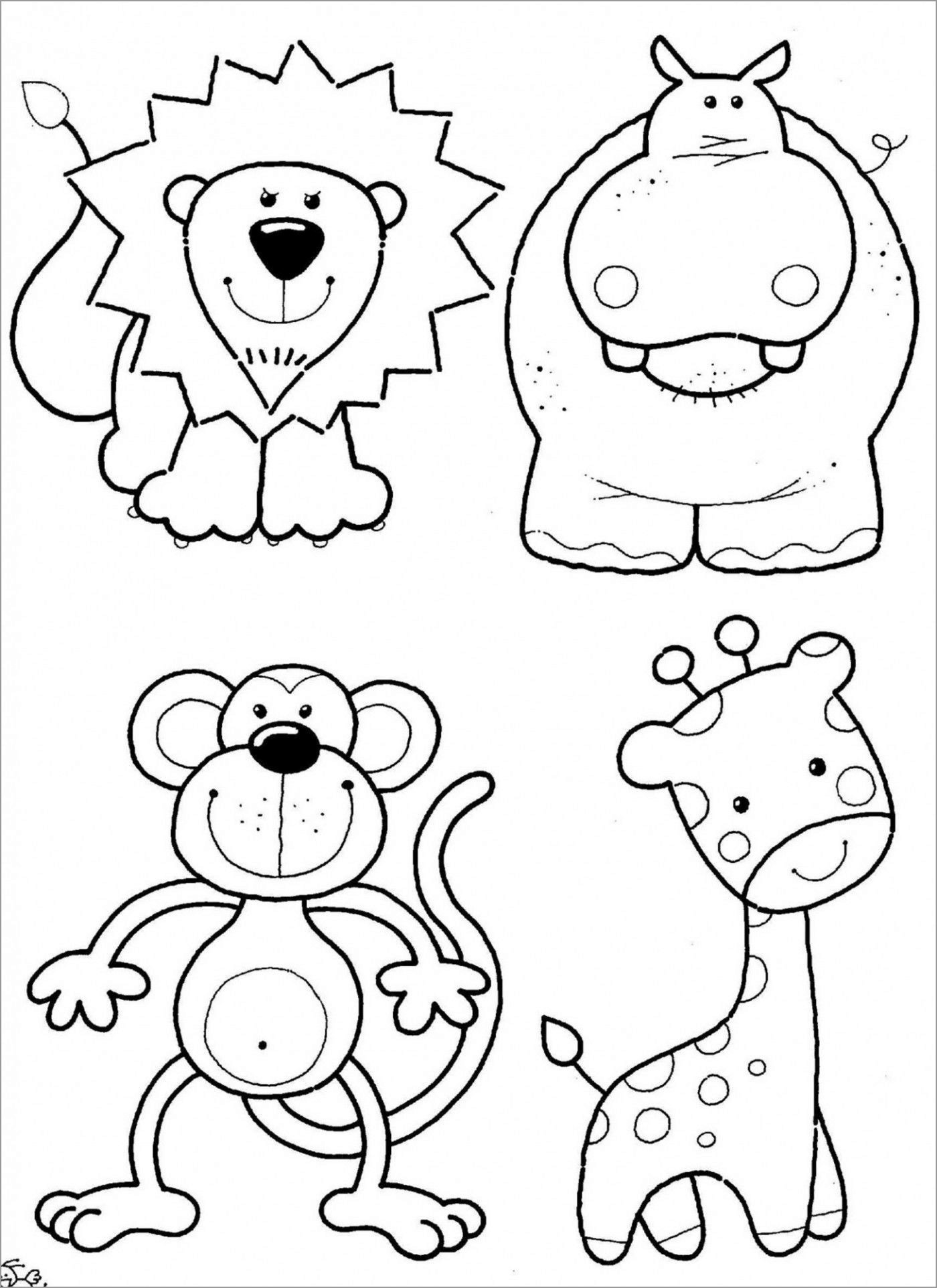 Cute Zoo Animal Coloring Page