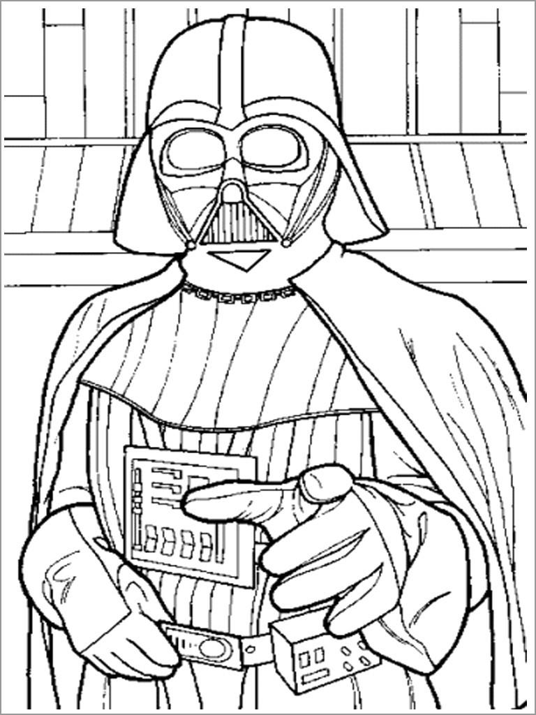 Darth Vader Coloring Page Free Coloringbay