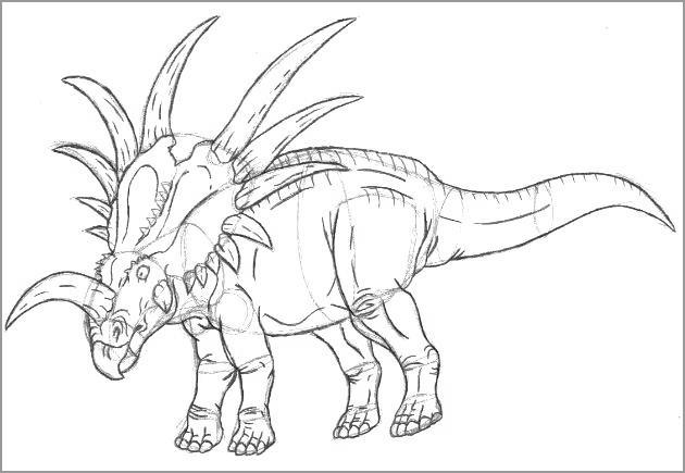 Dilophosaurus Dinosaurs Coloring Page