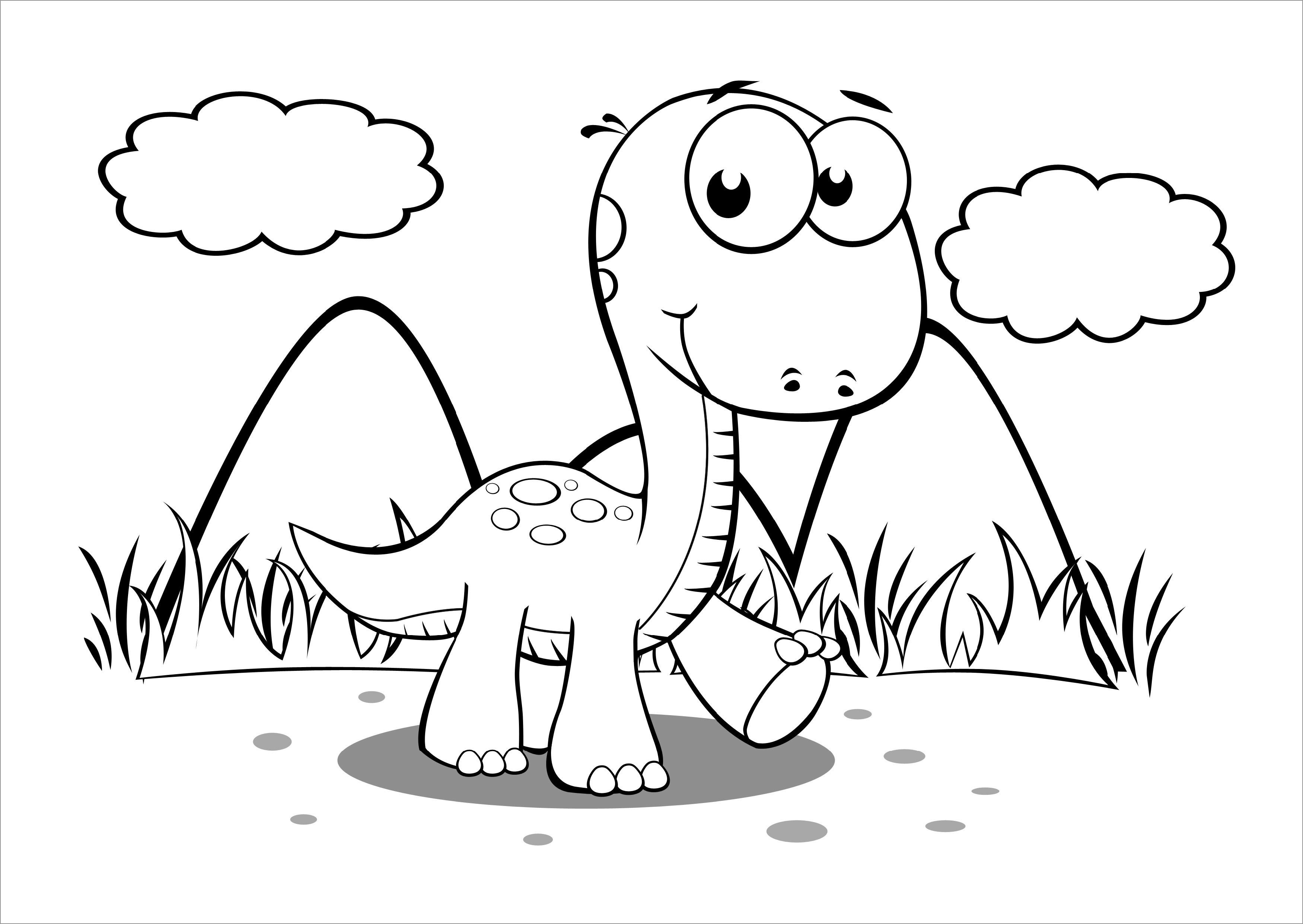 Dinosaur Coloring Page Preschool
