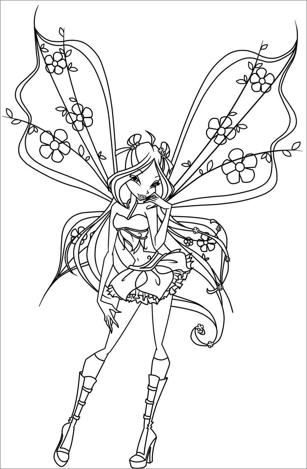 Fairy Winx Club Fairy Coloring Page